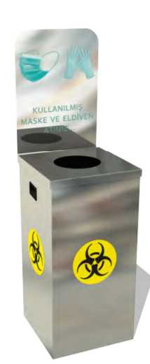 Maske ve Eldiven Tıbbi Atık Kutusu, 54 L