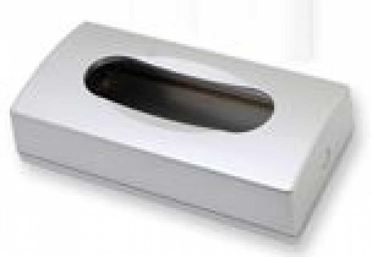 ABS Plastik Dikdörtgen Kağıt Mendil Dispenseri, Saten Krom