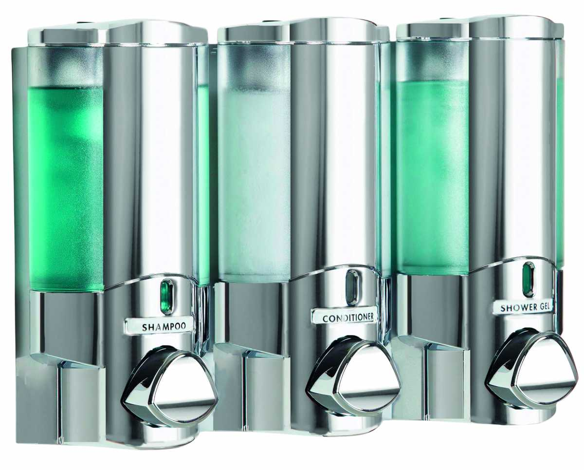 AVIVA  III Üçlü Krom Dispenser