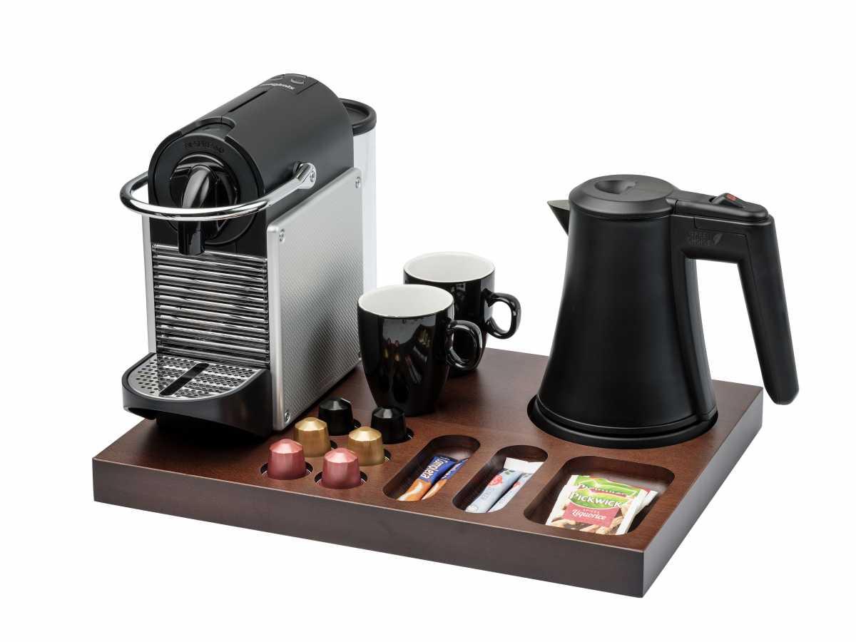BENTLEY Xanthic XL Kahve Makinesi ve Çay Tepsisi, 0,5 lt. Coral Su Isıtıcı ile Birlikte
