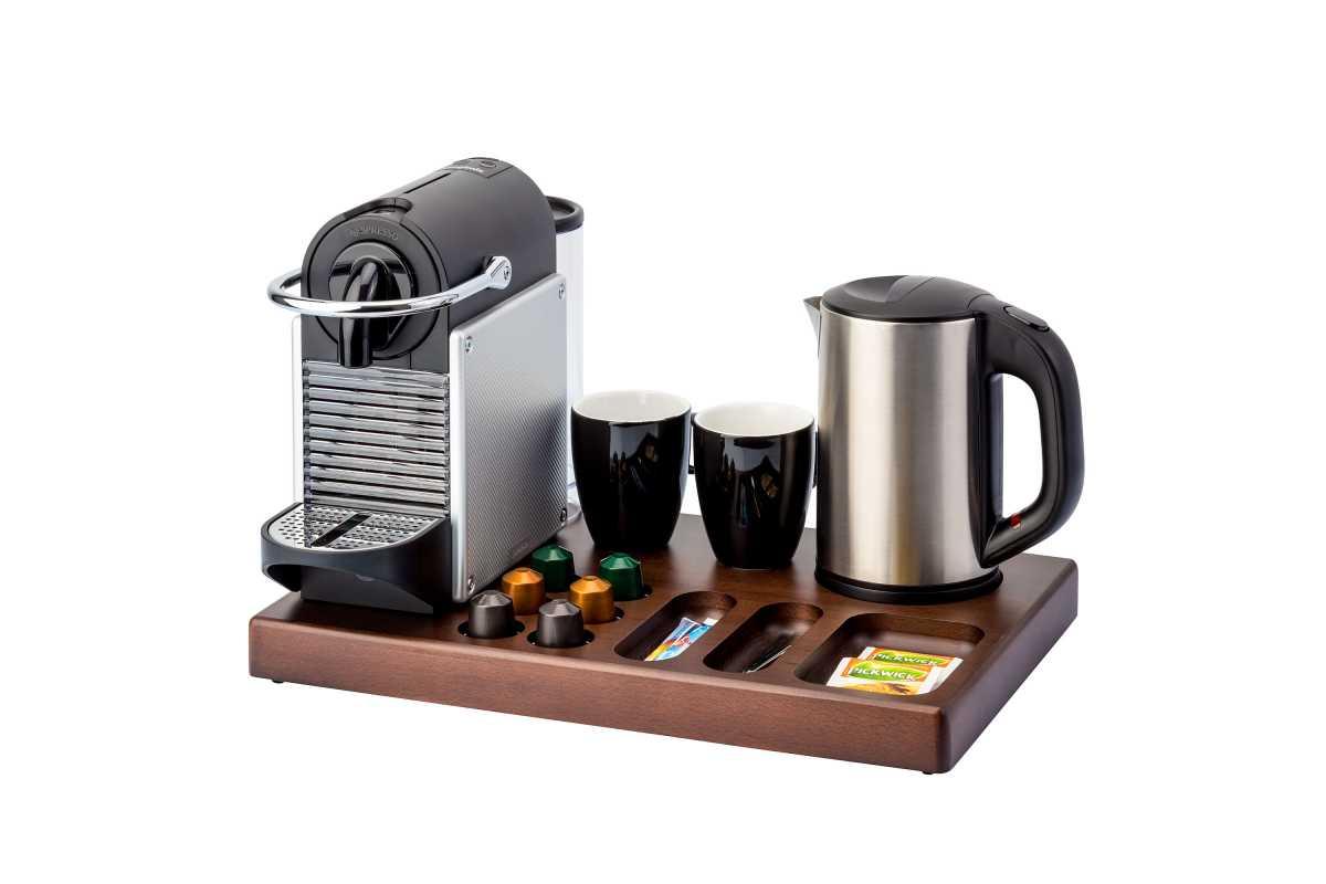 BENTLEY Xanthic XL Kahve Makinesi ve Çay Tepsisi, 0,6 lt. Scarlet Su Isıtıcı İle Birlikte