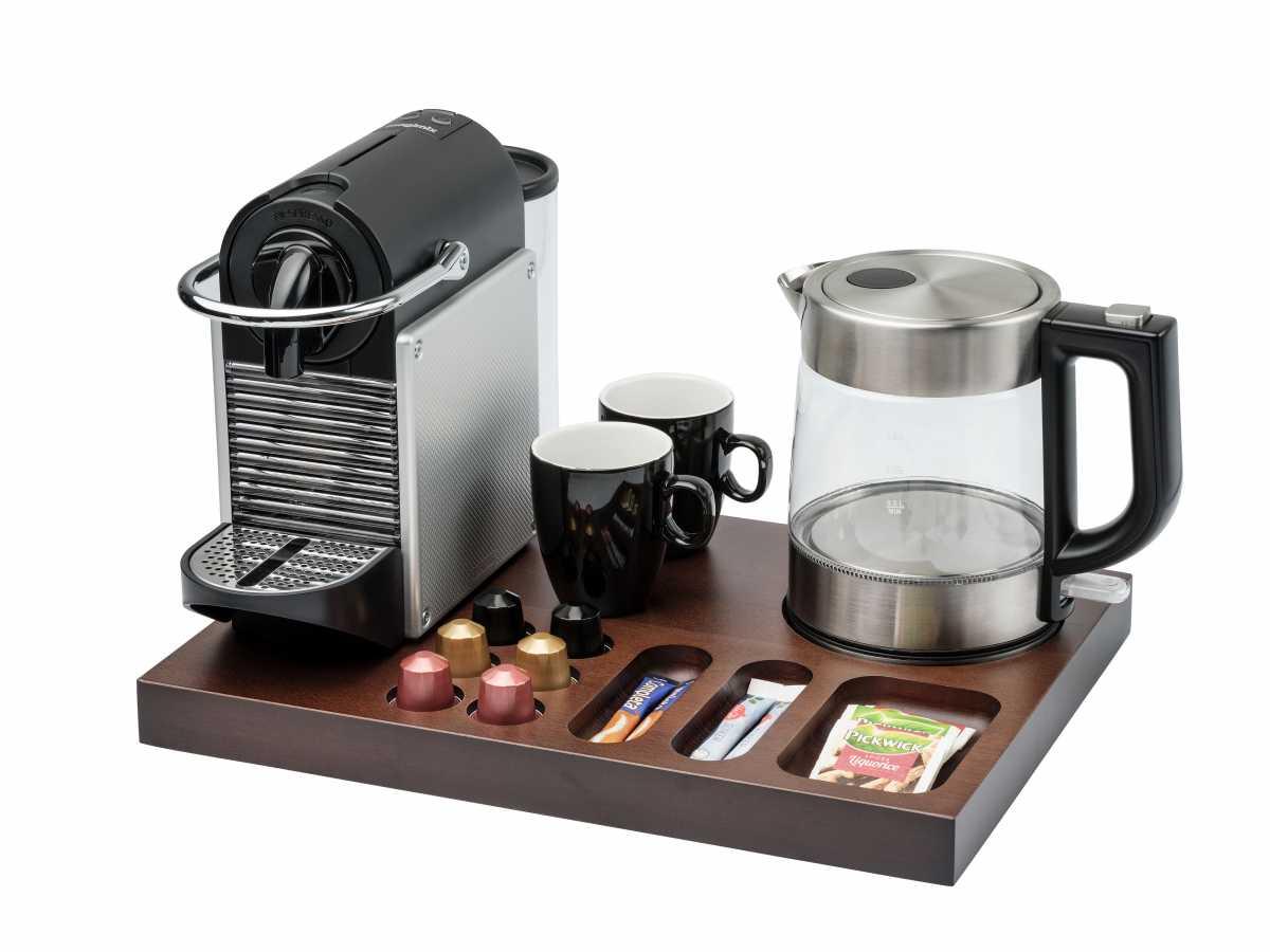 BENTLEY Xanthic XL Kahve Makinesi ve Çay Tepsisi, 1 lt. Crimson Su Isıtıcı ile Birlikte