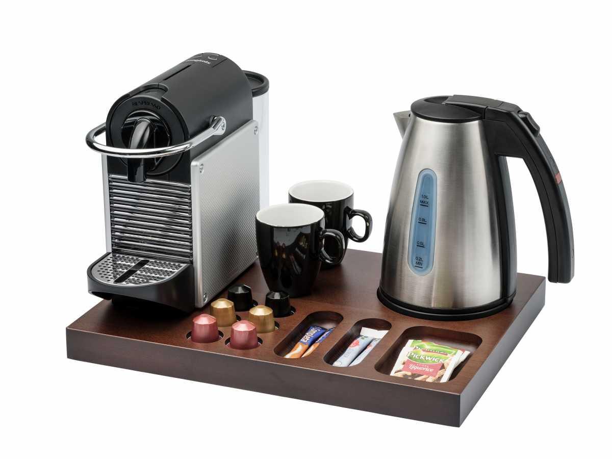 BENTLEY Xanthic XL Kahve Makinesi ve Çay Tepsisi, 1 lt. Saffron/Saffron View Su Isıtıcı ile Birlikte