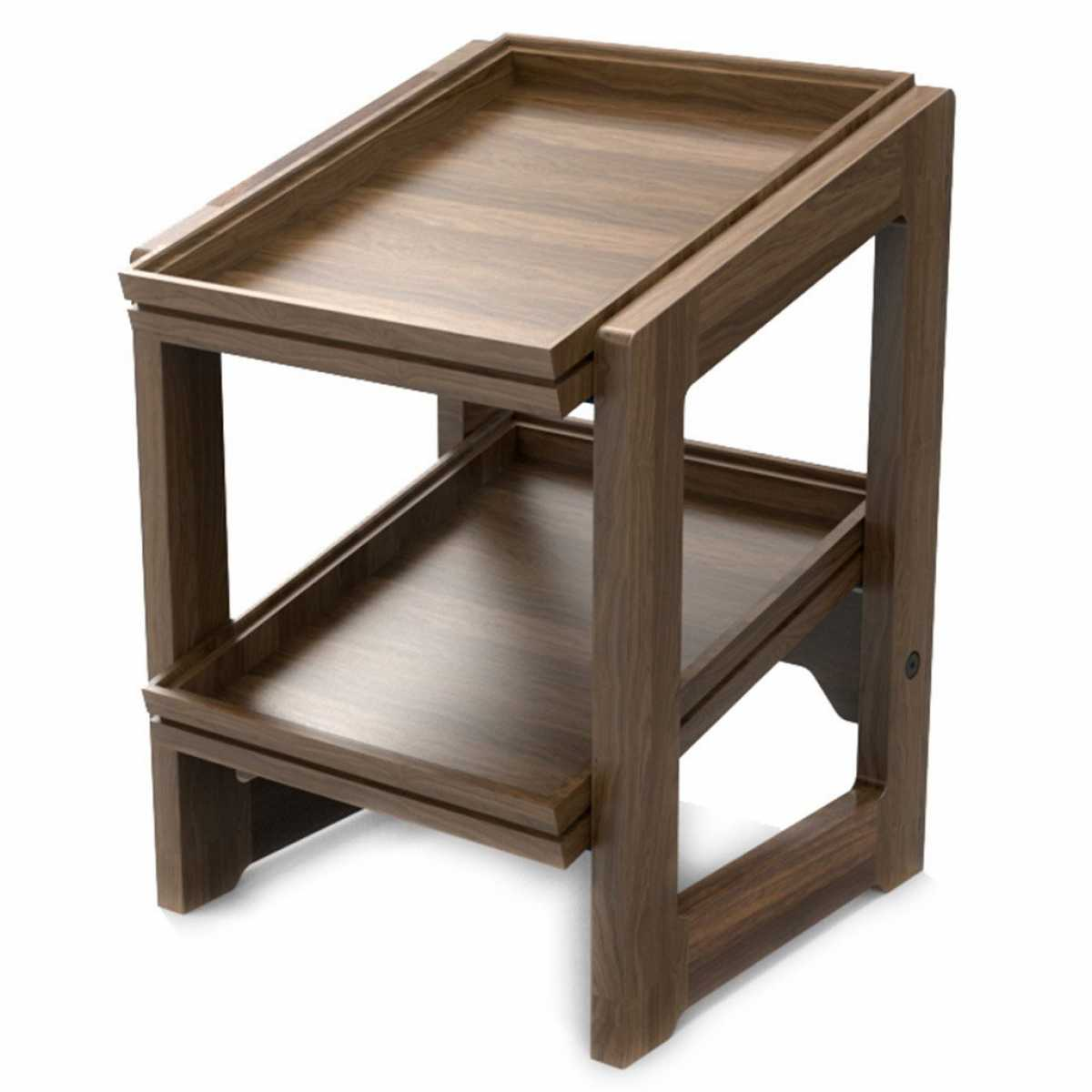 CRASTER Flow Walnut Stand Two Tier 1.2