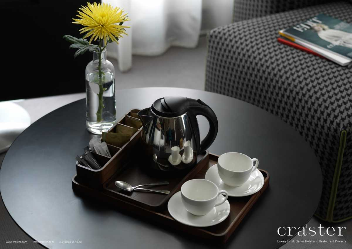 CRASTER Ahşap Lüks Çay ve Kahve Seti