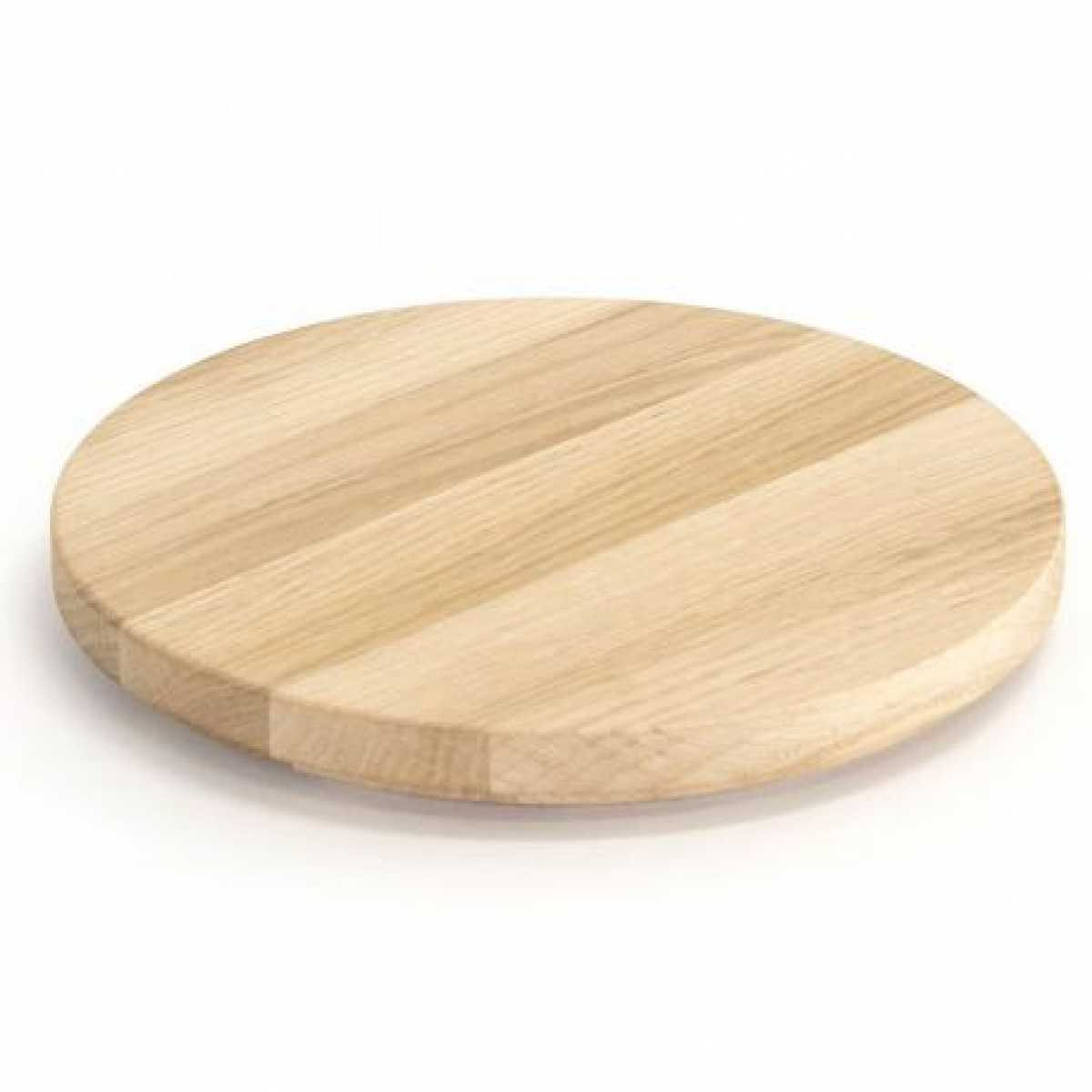 CRASTER Tilt Oak Round Plinth - Meşe