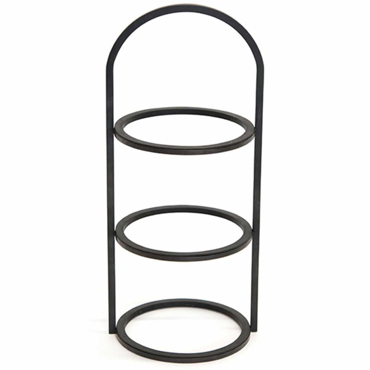 CRASTER Üç Katlı Yuvarlak Yükseltici - Karartılmış Yumuşak Çelik