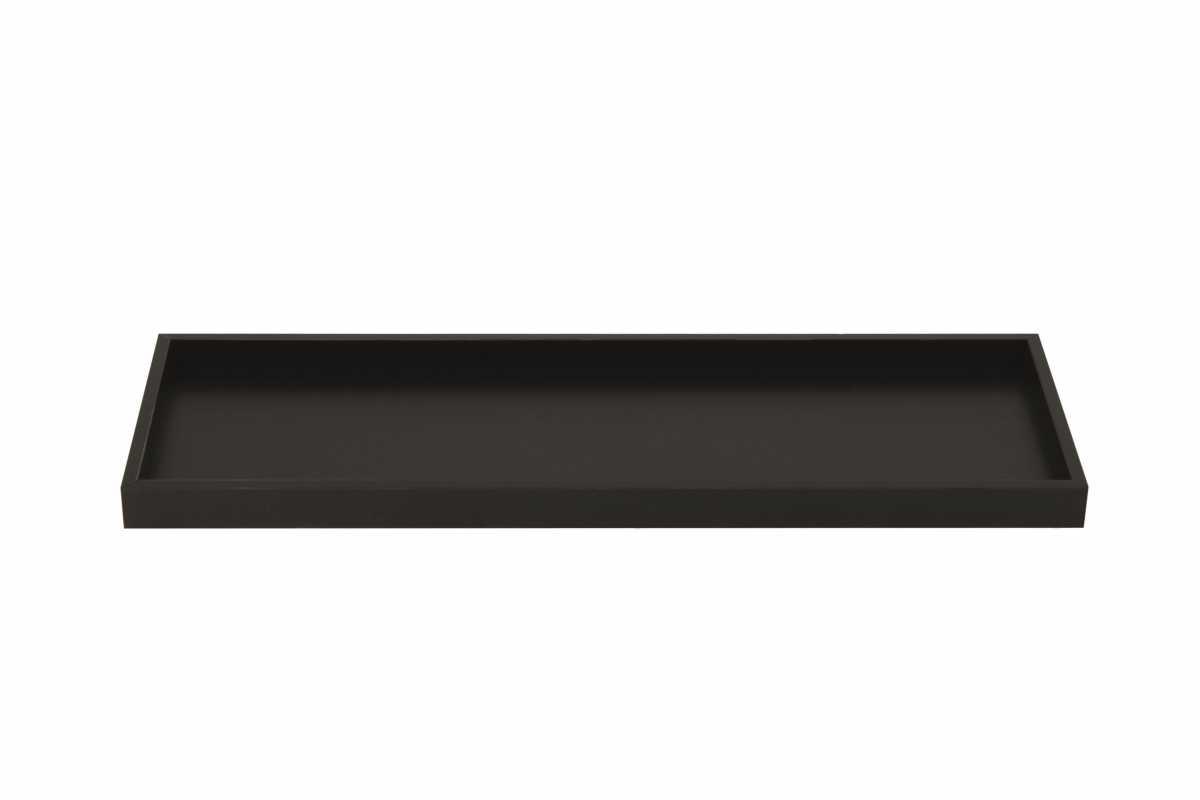 CROWN INTERNATIONAL Buklet Tepsisi, Büyük, Siyah Akrilik