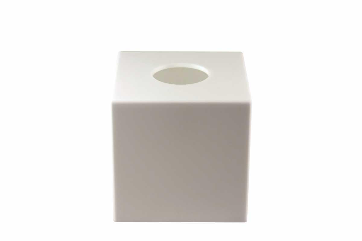 CROWN INTERNATIONAL Kağıt Mendil Kutusu, Beyaz Akrilik