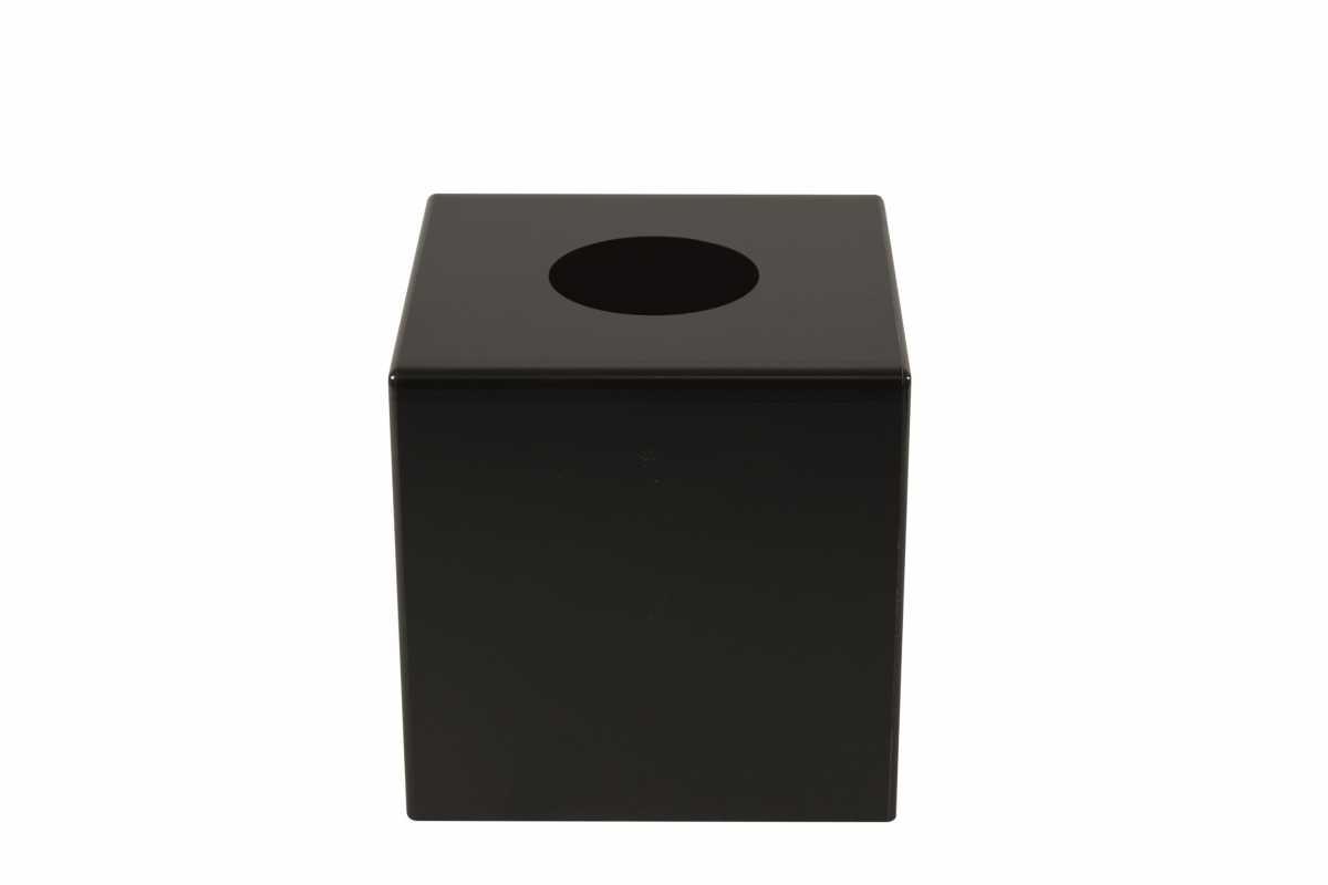 CROWN INTERNATIONAL Kağıt Mendil Kutusu, Siyah Akrilik