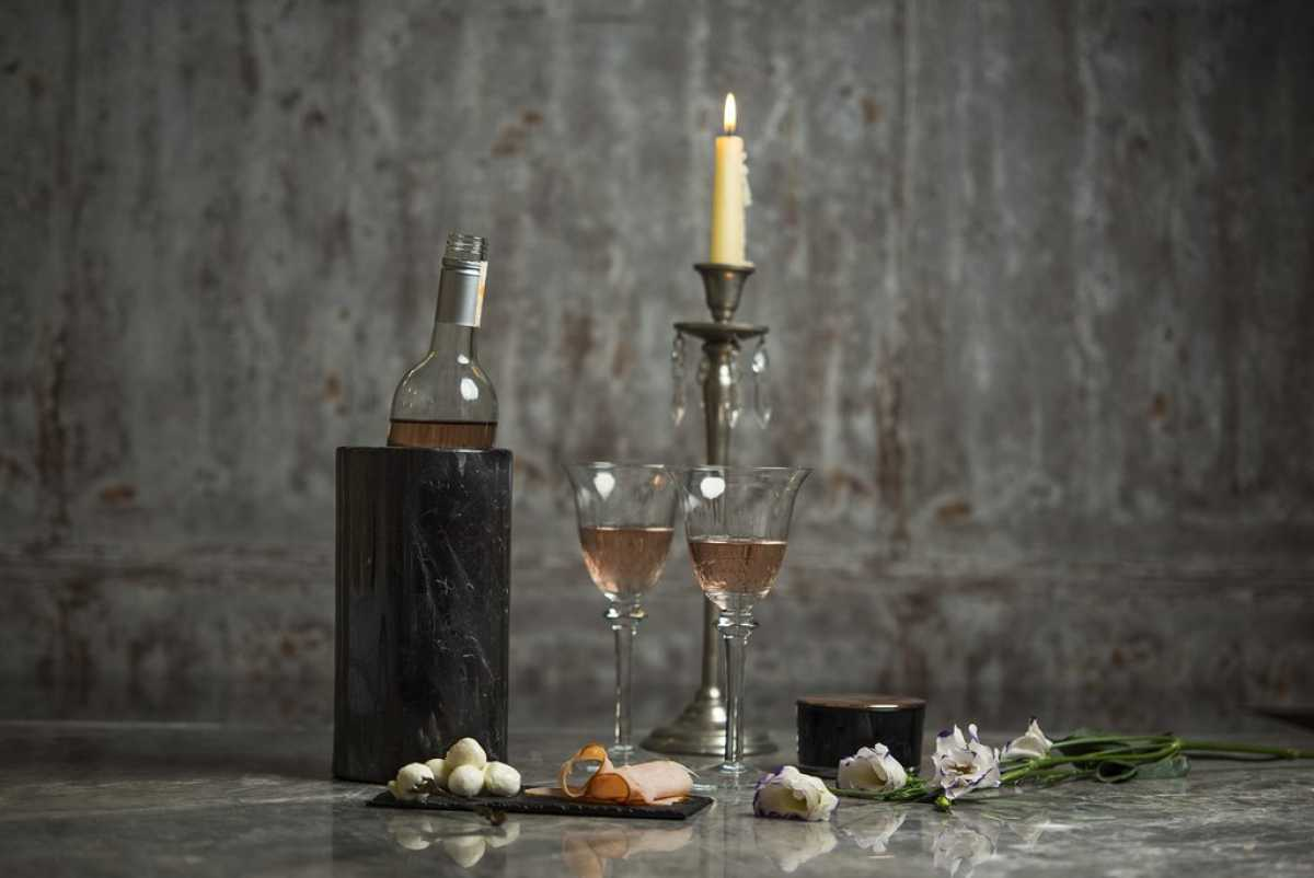 Düz Kesim Mermer Şaraplık