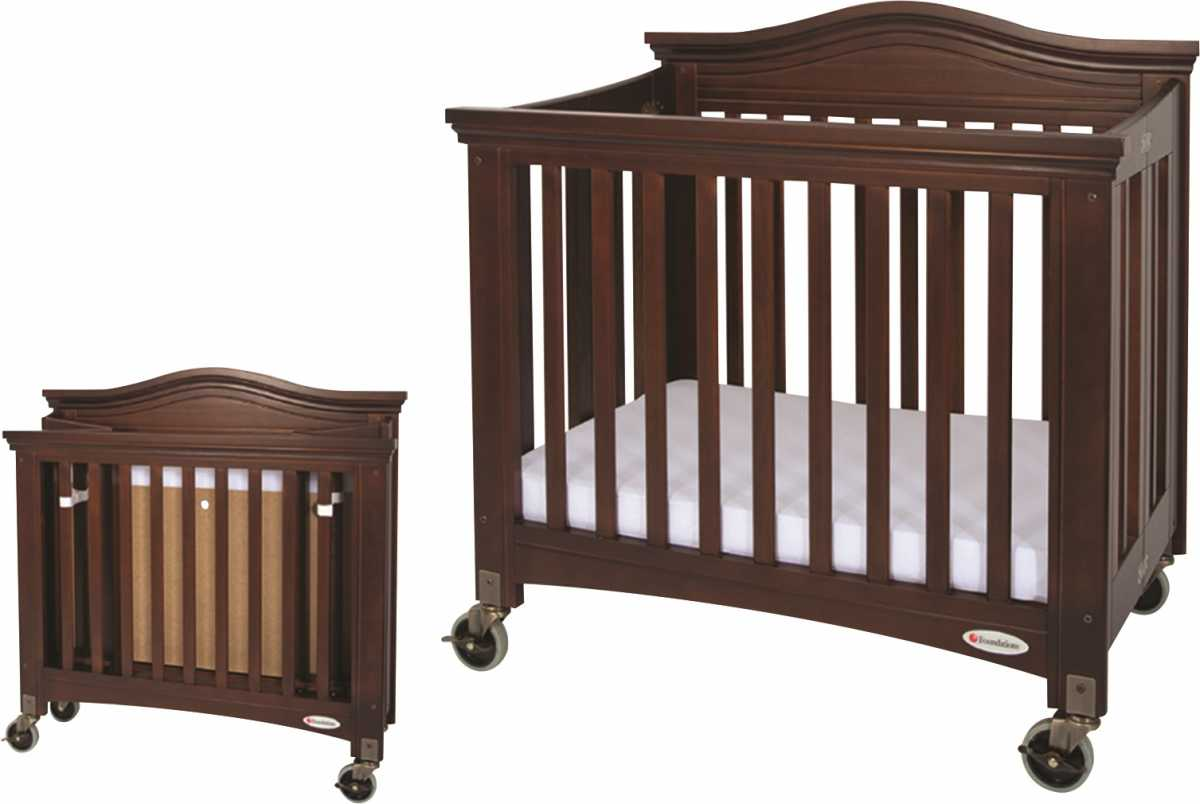 FOUNDATIONS Royale Katlanabilir Masif Ahşap Bebek Yatağı