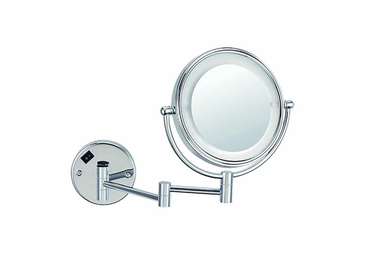 Makyaj Tıraş Aynası, Büyüteçli, Led Işıklı, Çift Kollu, Çift Yönlü