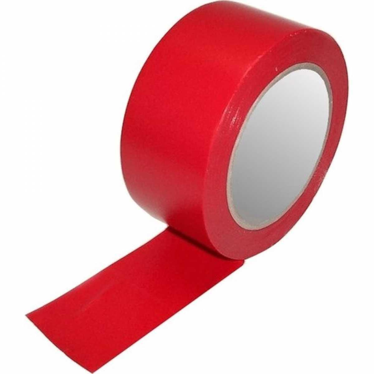 Kırmızı PVC Yer İşaretleme Bandı