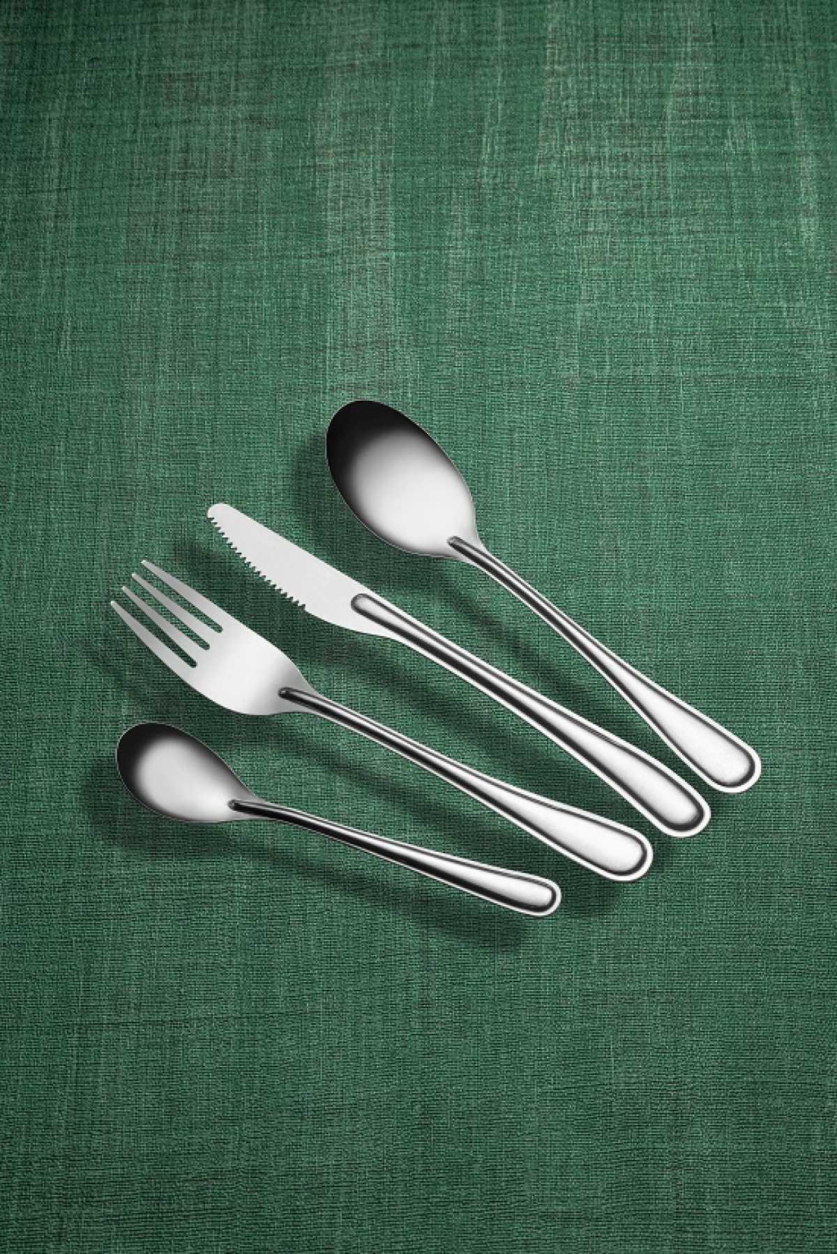 SOLA Tek Kullanımlık Yıkanabilir Paslanmaz Çelik Çatal, Kaşık ve Bıçak Takımları